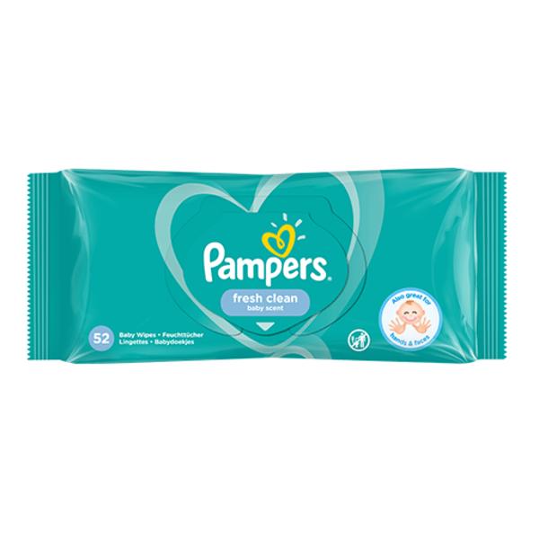 Pampers Pampers Fresh Clean Billendoekjes – 52 Stuks
