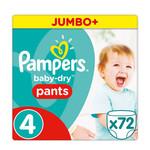 Pampers Pampers Baby Dry Pants Maat 4 - 72 Luierbroekjes