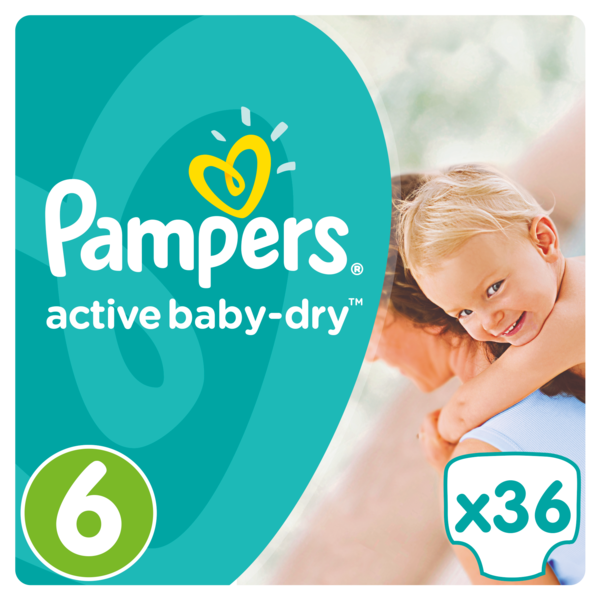 Pampers Pampers Active Baby Dry Maat 6 - 36 Luiers