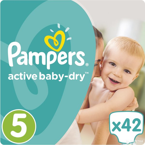 Pampers Pampers Active Baby Dry Maat 5 - 42 Luiers
