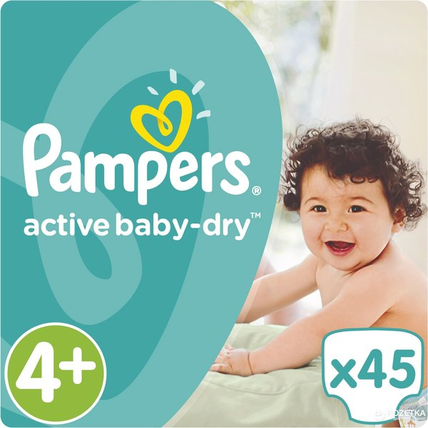 Pampers Pampers Active Baby Dry Maat 4+ - 45 Luiers