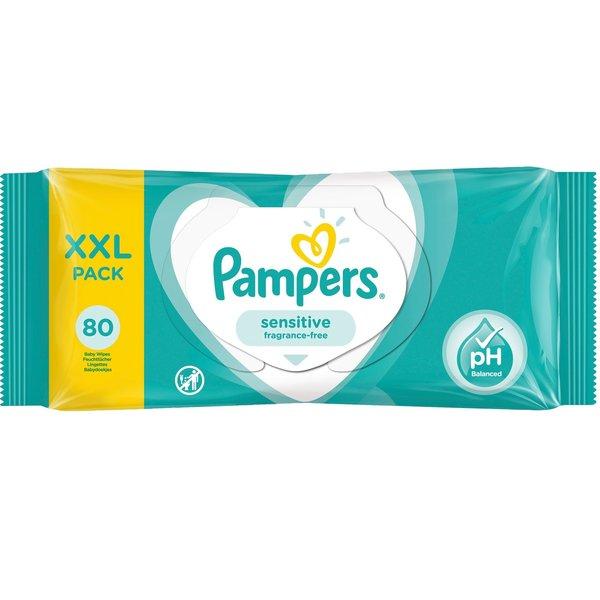Pampers Pampers Sensitive Billendoekjes XXL Pack - 80 Stuks