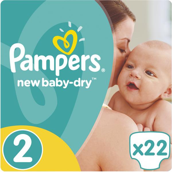 Pampers Pampers New Baby Dry Maat 2 - 22 Luiers