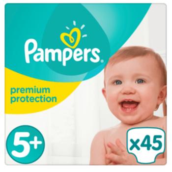 Pampers Premium Protection Maat 5+ - 45 Luiers