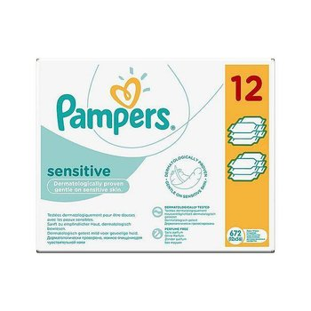 Pampers Sensitive billendoekjes 12x56