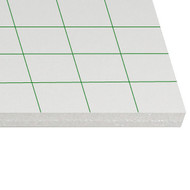 Carton mousse Auto-adhésif  5mm 100x140 auto-adhésif/blanc (25 planches)