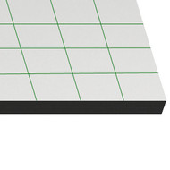 Pannello di cartone espanso adesivo 5mm 70x100 autoadesiva/nero (25 lenzuola)