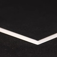 Standard foamboard 5mm A4 sort/grå (80 plader)