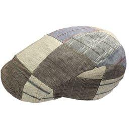 BJ Uomo flat cap patchwork beige