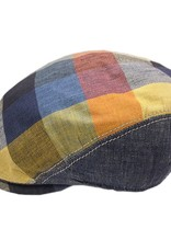 BJ Uomo flat cap patchwork jeans