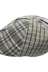BJ Uomo flat cap patchwork blue