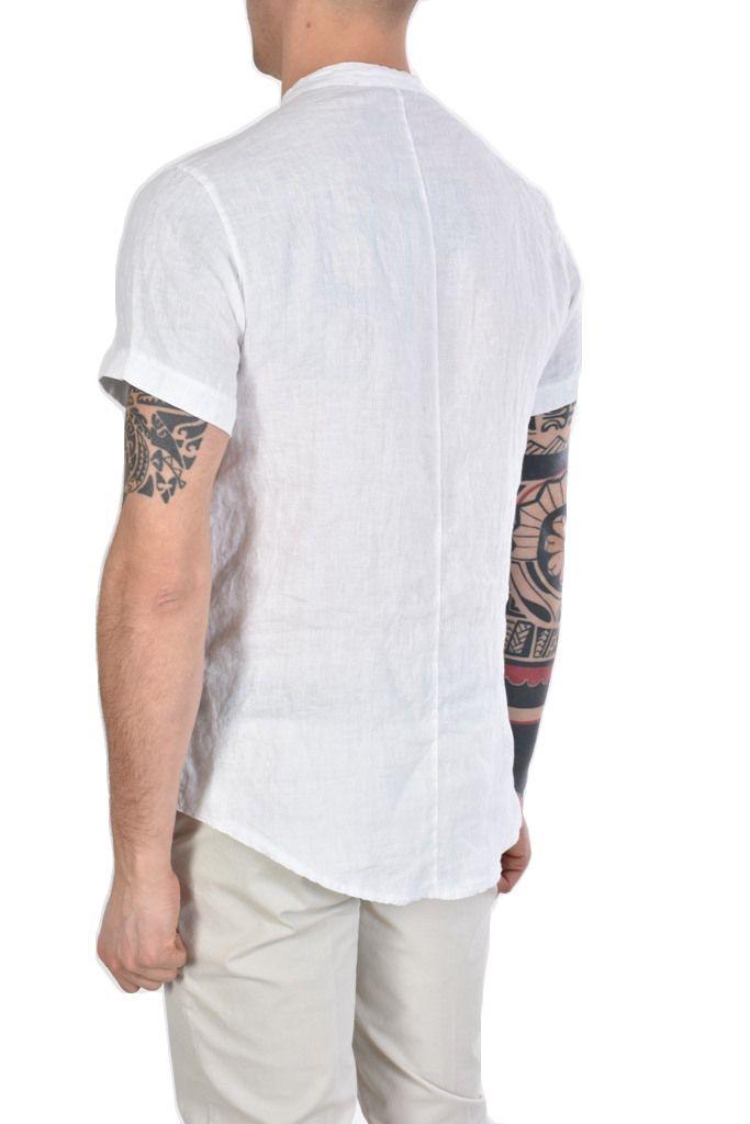 Xagon Man lyhythihainen pellavapaita valkoinen