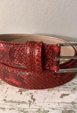 Bochicchio Cinture python nahkavyö punainen