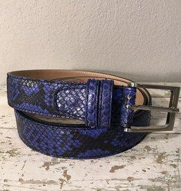 Bochicchio Cinture python nahkavyö sininen
