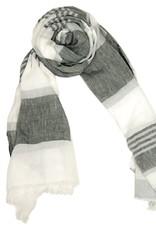 Bojua huivi grigio strisce