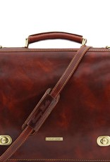 "Ruskea nahkasalkku 15,6"" Siena⎪Tuscany Leather"