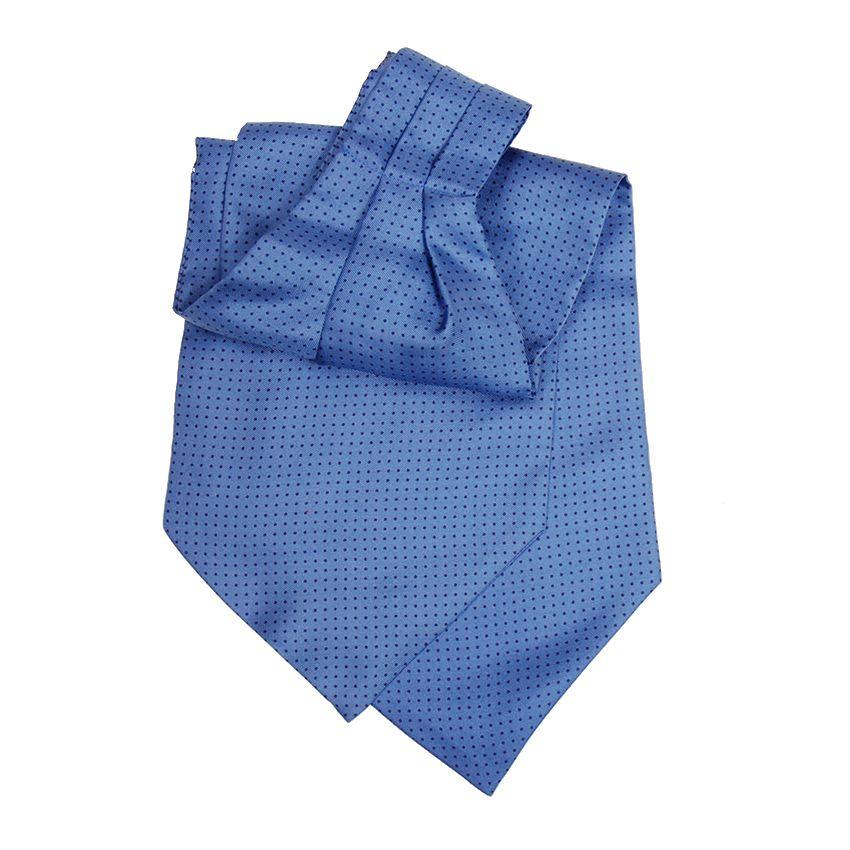 DMties ascot-huivi sininen pilkullinen