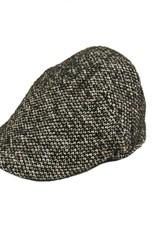 Notting Hill Flat cap mustavalkoinen