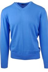 Malagrida neulepaita v-kaulus sininen