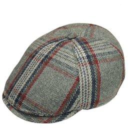 Bojua flat cap harmaa ruudullinen