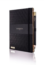 Castelli Italy muistikirja Honeycomb Ivory Black