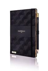 Castelli Italy muistikirja Art Deco Ivory Black