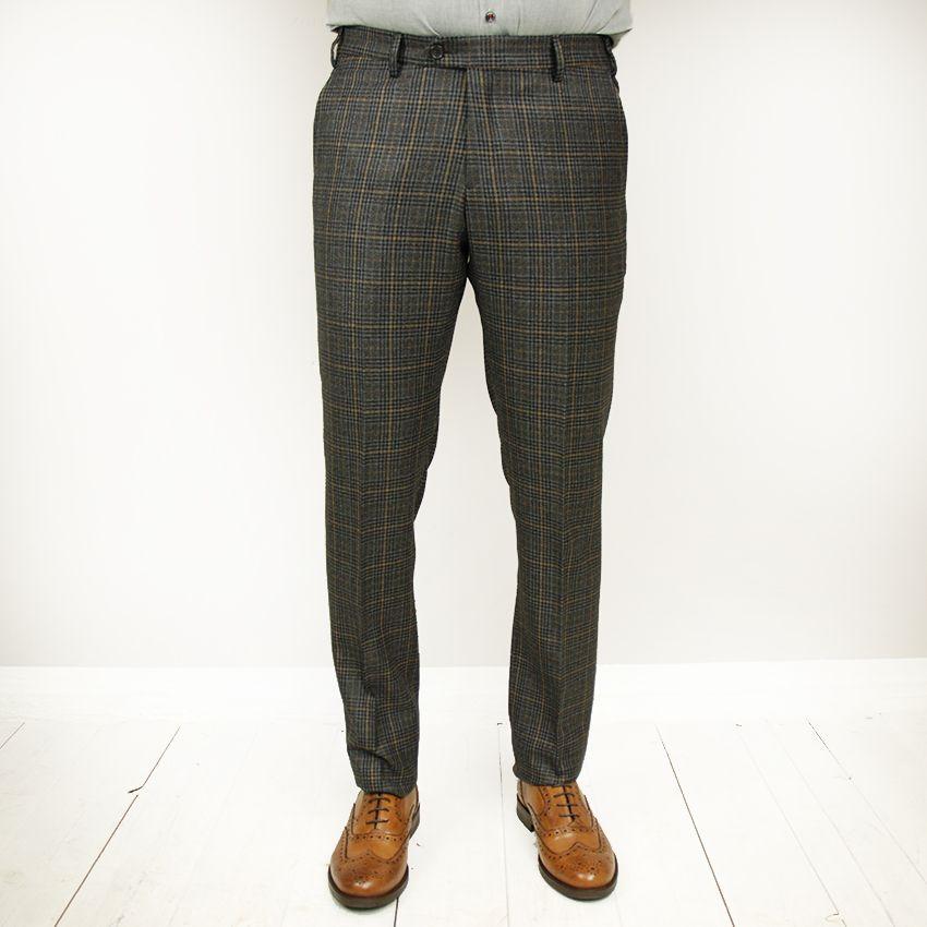 Posillipo 1930 housut ruudullinen tummanharmaa