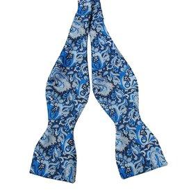 Andrew's Ties Milano solmittava rusetti sininen kuvioitu
