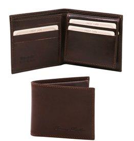 Tuscany Leather 3 Fold nahkalompakko tummanruskea