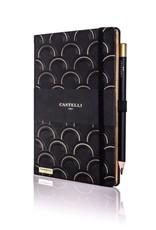 Castelli Italy muistikirja Art Deco Ivory Black and Gold