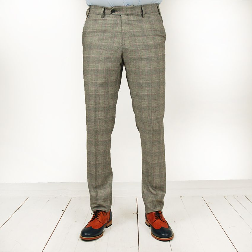 Posillipo 1930 Marzano housut harmaa ruudullinen