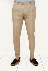 Exibit Fastello housut pellava ruskea