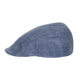 Bojua Epomeo flat cap pellava sininen
