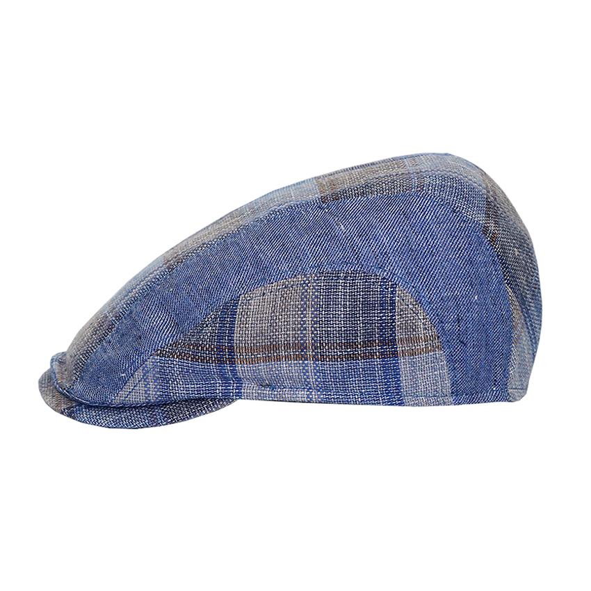 Bojua Gaeta flat cap sininen ruudullinen