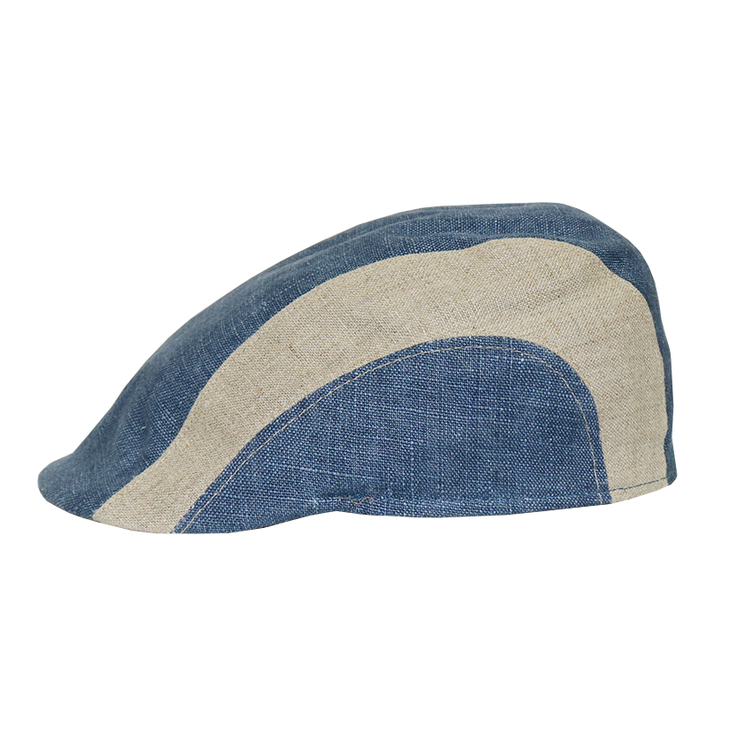 Bojua Falanga flat cap pellava sininen