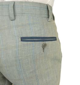 Posillipo 1930 pellavahousut siniharmaa ruudullinen