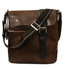 Chiarugi Posteca messenger laukku tummanruskea