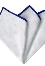 Brucle taskuliina valkoinen / sininen pellava