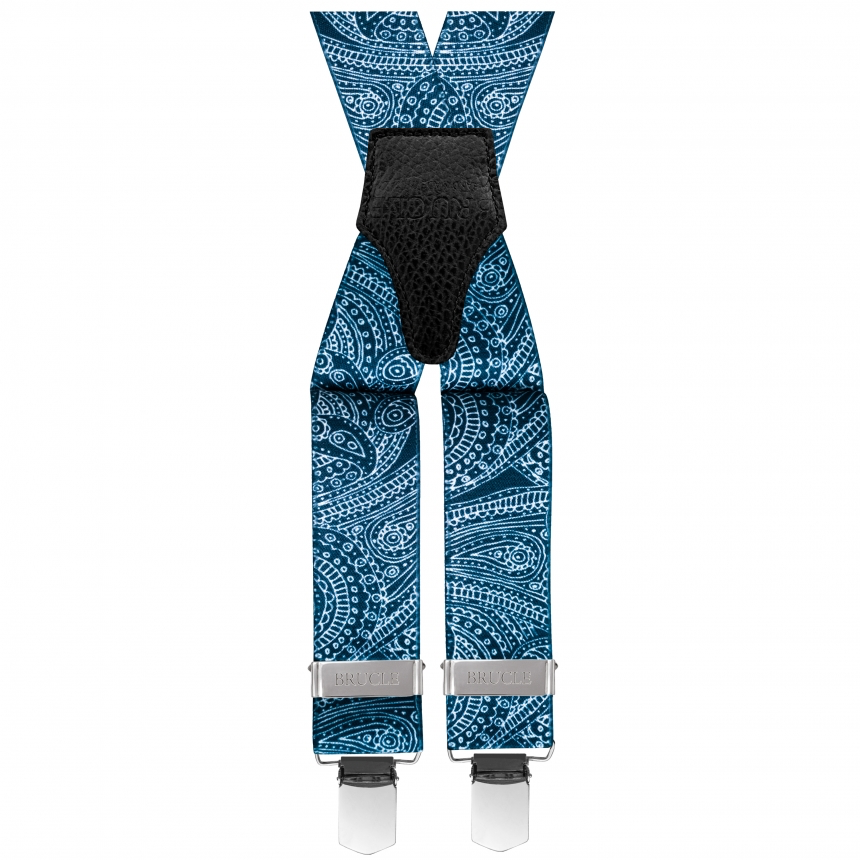 Siniset henkselit paisley kuviolla⎪ Brucle