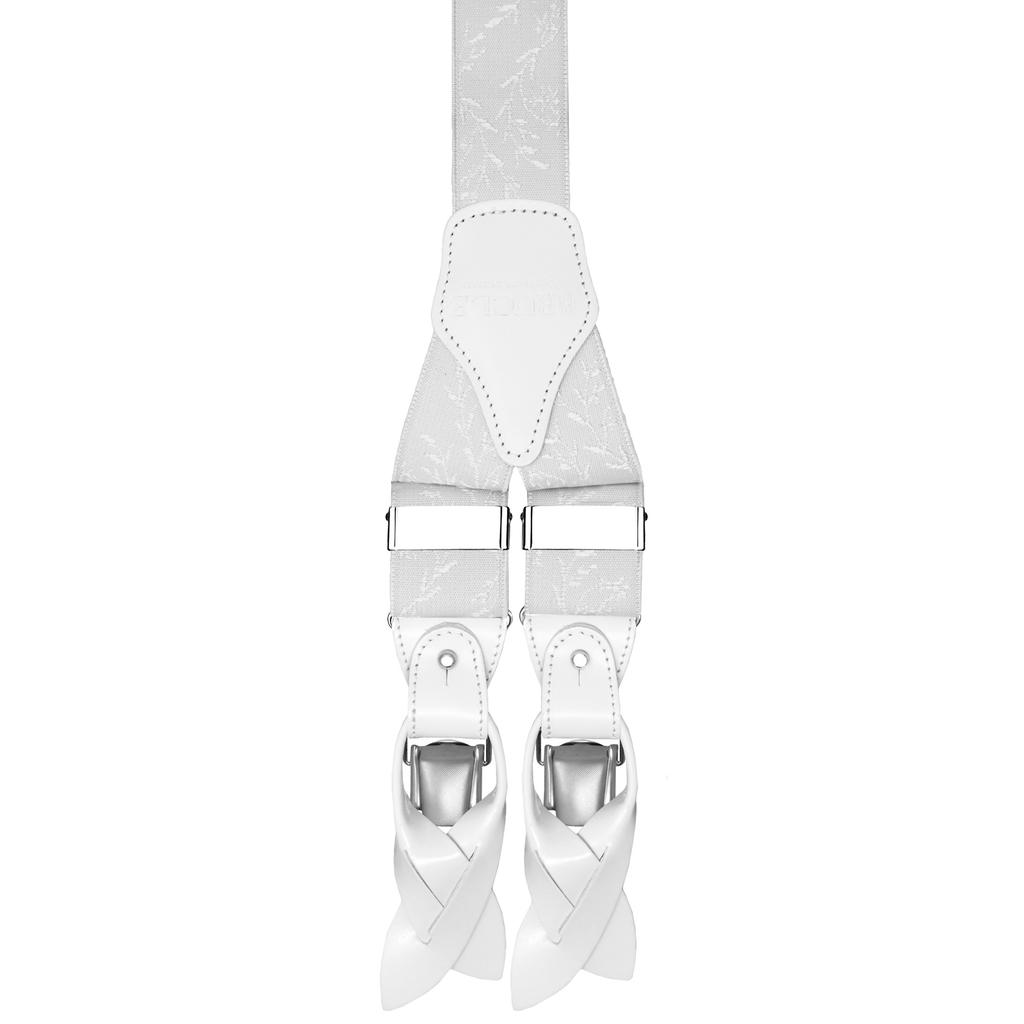Valkoiset henkselit kuviolla⎪ Brucle