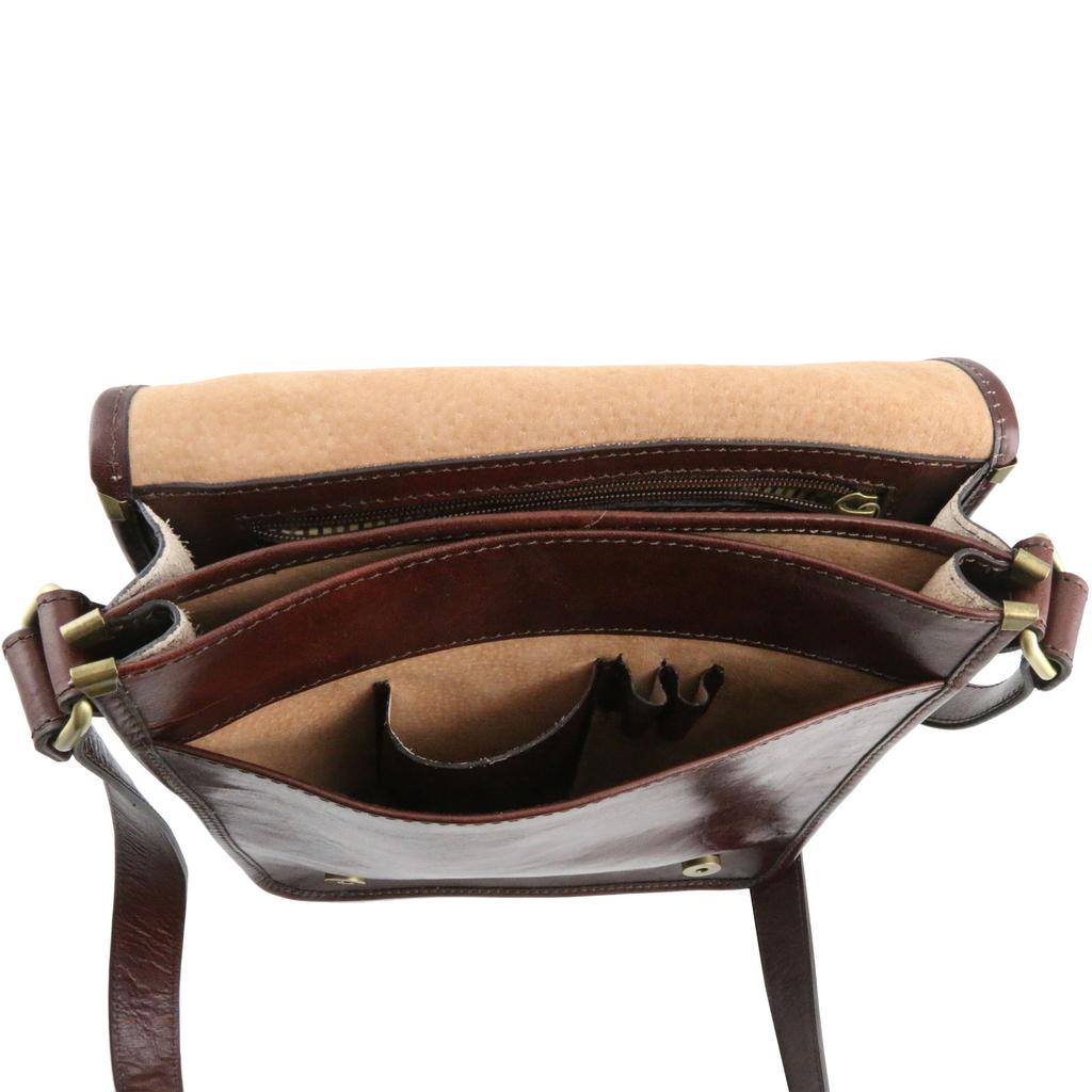 Tuscany Leather Messenger laukku ruskea