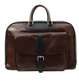 Tummanruskea nahkainen matkalaukku ⎪Chiarugi