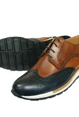 Andrea Nobile Crust kenkä konjakki/sininen