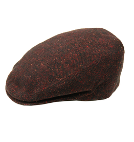 Bojua flat cap kalanruoto punainen