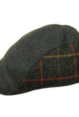 Bojua flat cap ruudullinen harmaa
