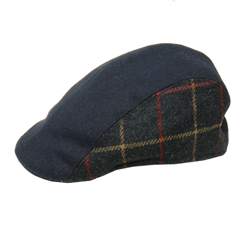 Bojua flat cap ruudullinen sininen