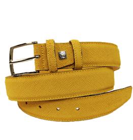 Fratelli Ferrante nahkavyö keltainen
