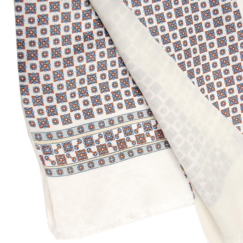 Bojua silkkihuivi silkkiä ja villaa valkoinen