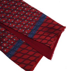 Bojua silkkihuivi silkkiä ja villaa tummanpunainen