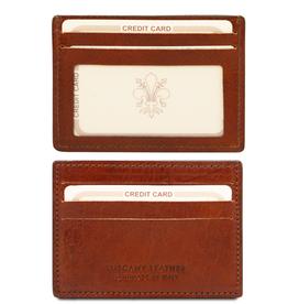 Tuscany Leather korttilompakko ruskea